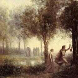 Orpheus & Eurydice by J.B.C. Corot - 1861