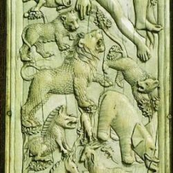 Orpheus aka Adam on ivory - 5th century AD