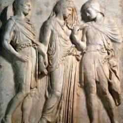 Hermes, Eurydice and Orpheus - 5th century BC
