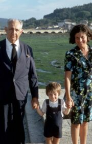 1973 - Don Ignacio in Galicia with daughter Margarita and grandson, Owen A. Barfield.