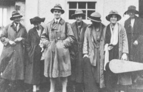 1921 - In Cornwall; from left - Cecil Harwood, Maud Douie, Owen Barfield