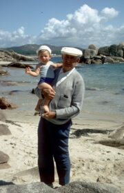 Don Ignacio & Owen, 1970 in Galicia, Spain.