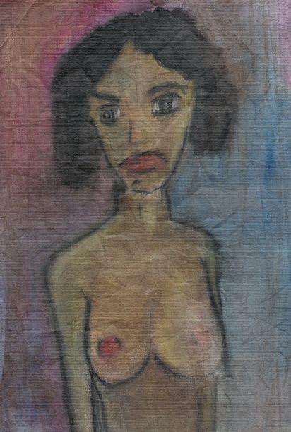 Figure, Emil Nolde, oil on canvas, 20 x 30 cm
