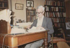 Owen Barfield, study, early 1980s
