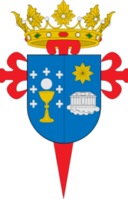 Shield of the city of Santiago de Compostela.
