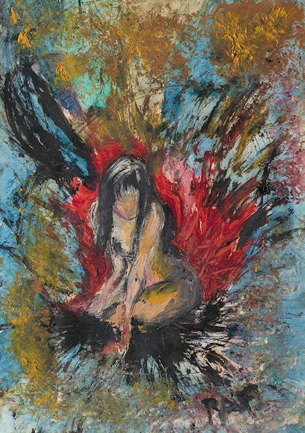Where is my Soul?, Raffaella Bertolini, 2004, oil on paper, 30 X 42 cm