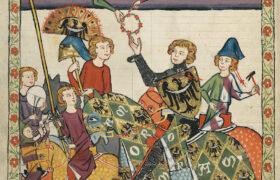 Codex Manesse, 1304. Illustration resplendent of the Way via the 'Affirmative'