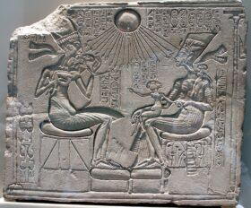 'Akhenaten, Nefertiti and their children', c.1345 BC.